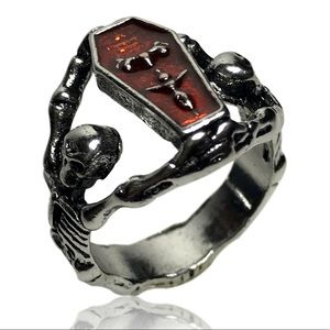 Other - Gothic Vampire Skeleton Coffin Ring
